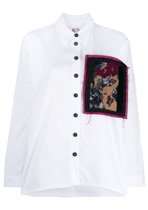 Antonio Marras loose-fit patched shirt - White