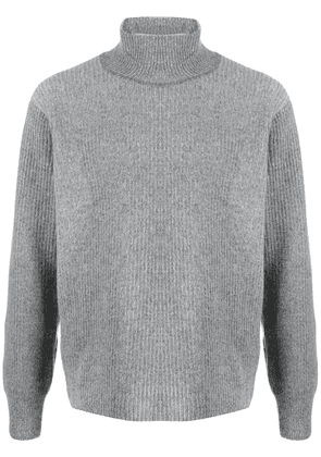 Maison Kitsuné ribbed turtleneck jumper - Grey