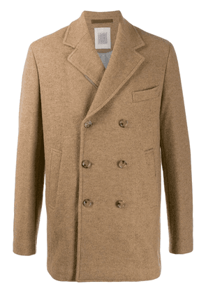 Eleventy double-breasted peacoat - Brown