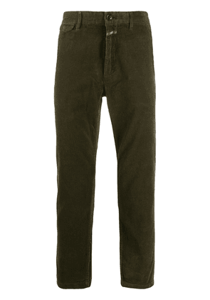 Closed corduroy cropped trousers - Green