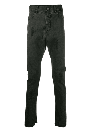 10Sei0otto distressed dropped crotch jeans - Black