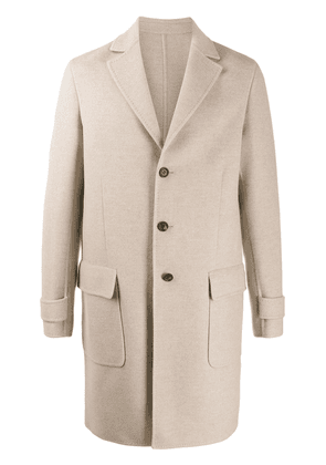 Eleventy single-breasted fitted coat - NEUTRALS