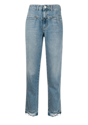 Closed cropped high rise jeans - Blue