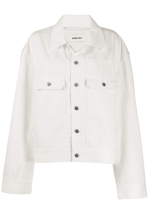 AMBUSH logo denim jacket - White