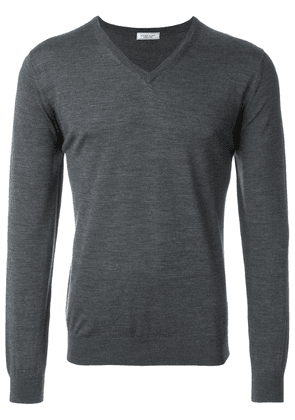 Fashion Clinic Timeless v-neck sweater - Grey