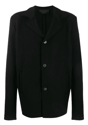 10Sei0otto short black cashmere coat