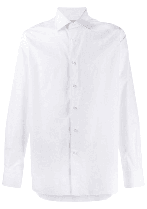 Canali long sleeved cotton shirt - White