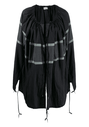 Ambush Waves shawl cape - Black