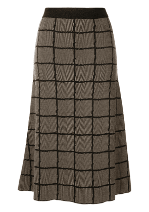 Antonio Marras checked midi skirt - Brown