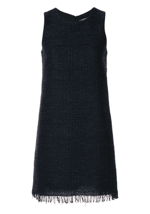 Andrew Gn tweed shift dress - Blue