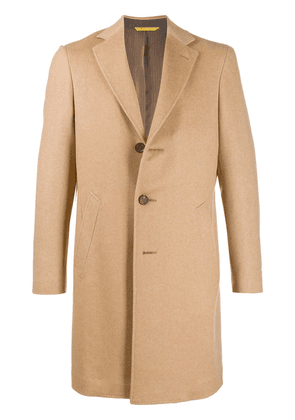 Canali Vicuna single breasted coat - NEUTRALS