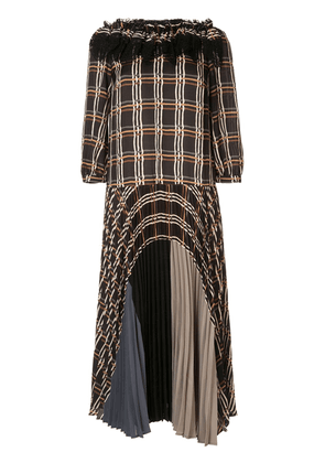 Antonio Marras pleated check dress - Black
