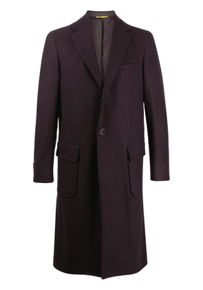 Canali single-breasted coat - Red