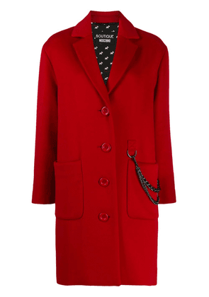 Boutique Moschino oversized button chain detail coat - Red