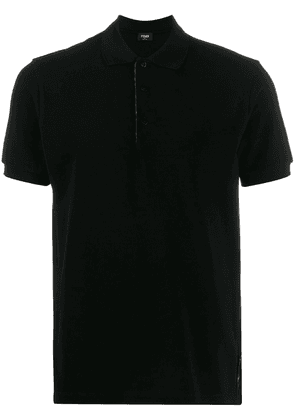 Fendi printed FF detailed polo shirt - Black