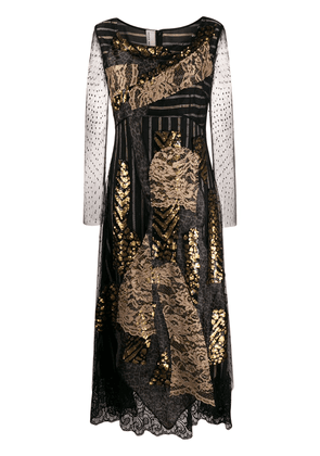 Antonio Marras lace panel midi dress - Black