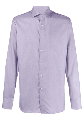 Canali spread-collar shirt - White
