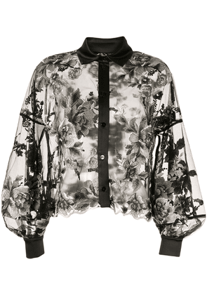 Antonio Marras floral-embroidered shirt - Black