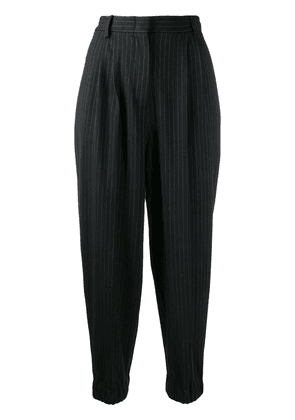 Antonio Marras pin stripe cropped trousers - Black