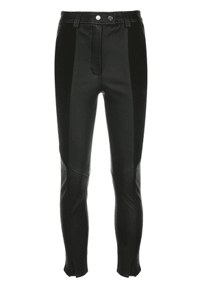 A.L.C. panelled leather trousers - Black