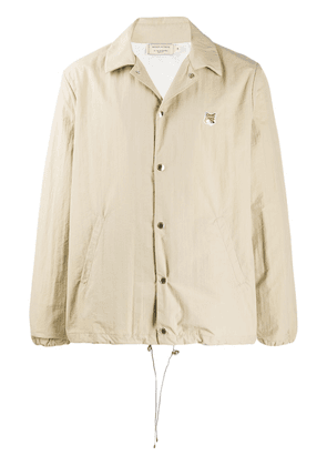 Maison Kitsuné point-collar jacket - NEUTRALS