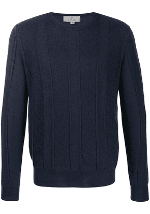Canali cable knit jumper - Blue