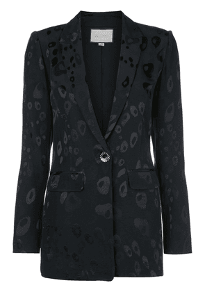 Alexis fitted printed blazer - Blue