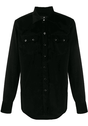 Barbanera long-sleeve fitted shirt - Black