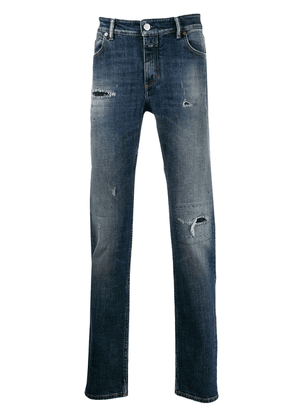 Closed distressed straight-leg jeans - Blue