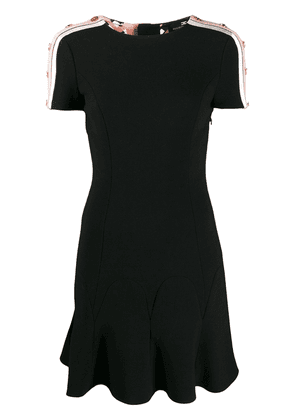 Elisabetta Franchi panelled button detail dress - Black