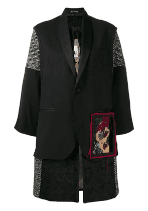 Antonio Marras embroidered patchwork jacket - Black