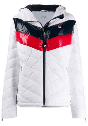 Fila color-block hooded jacket - White