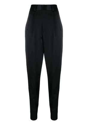 Saint Laurent high-waisted tapered trousers - Black