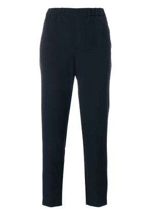 Closed elasticated waistband tailored trousers - Blue