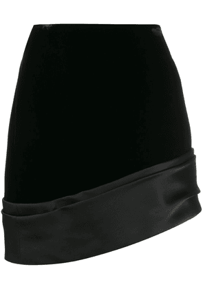 Saint Laurent asymmetric mini skirt - Black