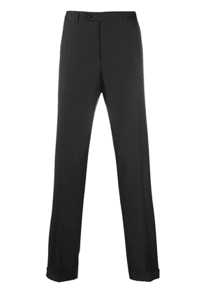 Canali slim-fit tailored trousers - Black