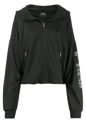Fila oversized hooded jacket - Black