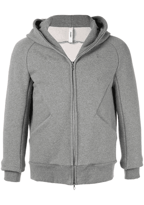 Attachment zipped hooded jacket - Grey