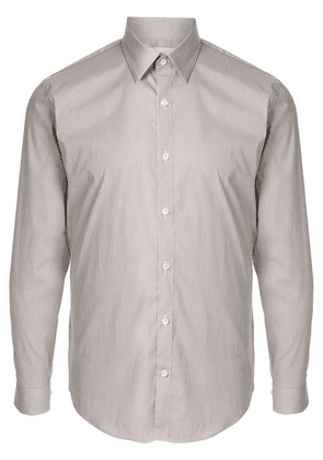 Cerruti 1881 fitted long sleeve shirt - Brown