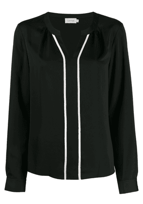 Calvin Klein contrast piped blouse - Black