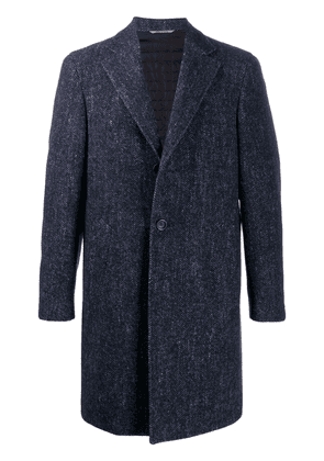 Canali single-breasted coat - Blue