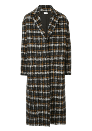 Faith Connexion boxy fit checked coat - Black
