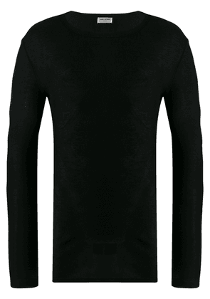 Saint Laurent long sleeve ribbed T-shirt - Black