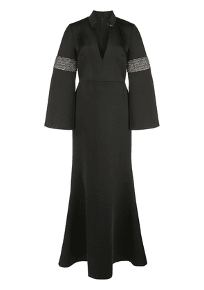 Badgley Mischka fit and flare evening dress - Black