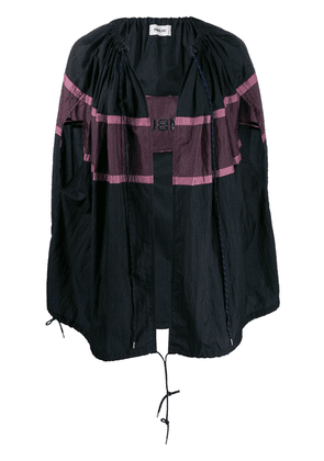 AMBUSH drawstring colour-block cape - Blue