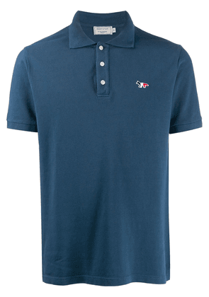 Maison Kitsuné fox embroidered polo shirt - Blue
