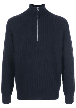Alex Mill ribbed zipped collar jumper - Black
