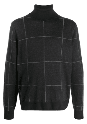 Canali checked jumper - Black