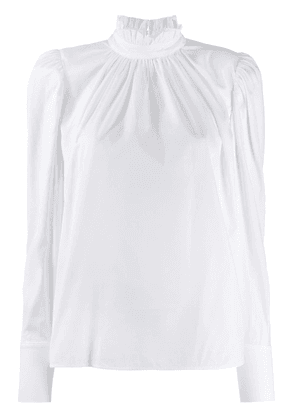 Federica Tosi high-neck gathered blouse - White