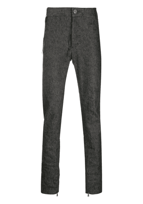 Cedric Jacquemyn slim-fit mid-rise trousers - Grey